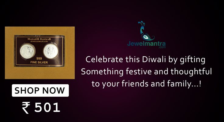 Celebrate this Diwali by gifting something festive and thoughtful to your friends and family....! Browse for more gift collection our online store @www.jewelmantra.com A unit of Mahabir Danwar Jewellers