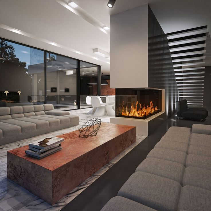 Living Room With Fireplace In Middle 33 best fireplace ideas images on pinterest | fireplace ideas
