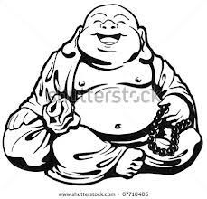 Adorable Buddha tattoo idea.