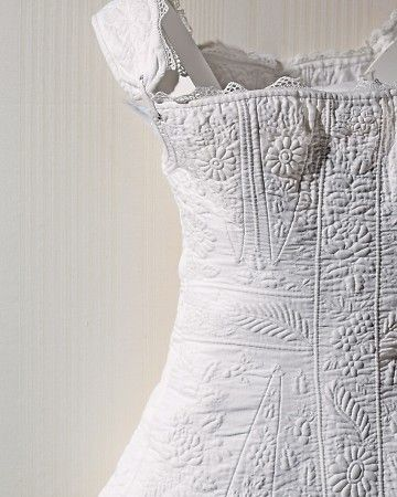 Circa 1830 quilted corset.