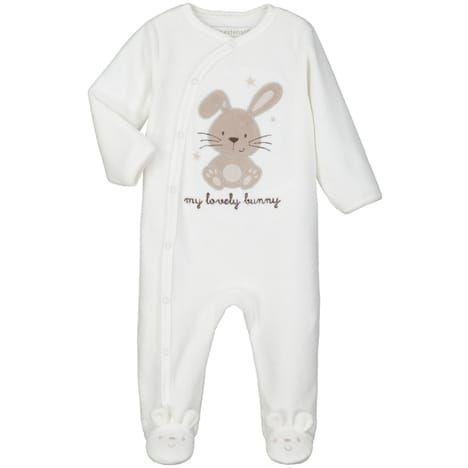 IN EXTENSO Pyjama velours motif lapin bébé