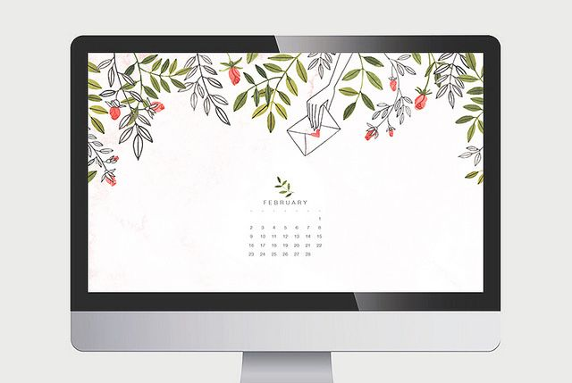 I love these free desktop calendars by oanabefort.