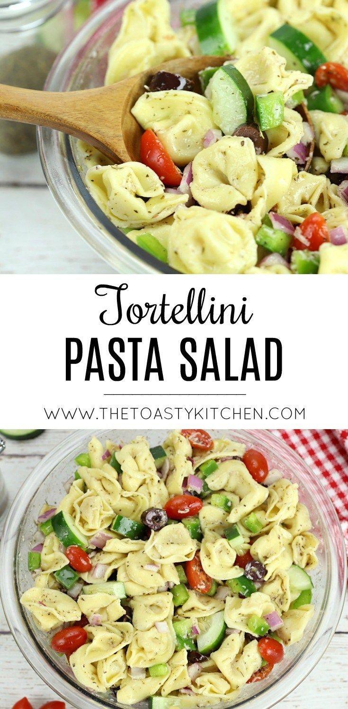 Tortellini Pasta Salad – The Toasty Kitchen #tortellinisalad #tortellini #sidedi…   – DELICIOUS RECIPE BOARD