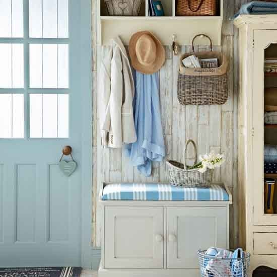 Overhead hallway storage | Small hallway design ideas | Hallway | PHOTO GALLERY | Ideal Home | Housetohome.co.uk