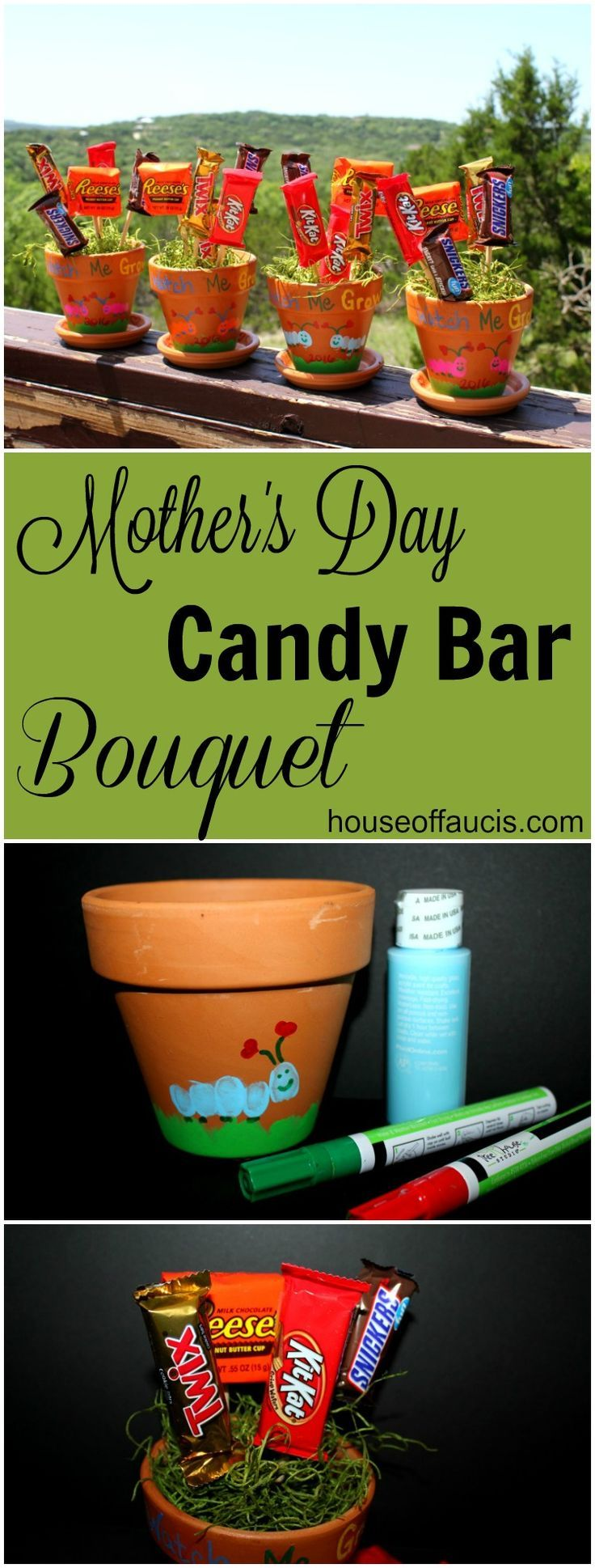 Mother's Day Candy Bar Bouquet