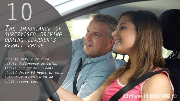 Number 10- Practice with your teen before and after they get their license!