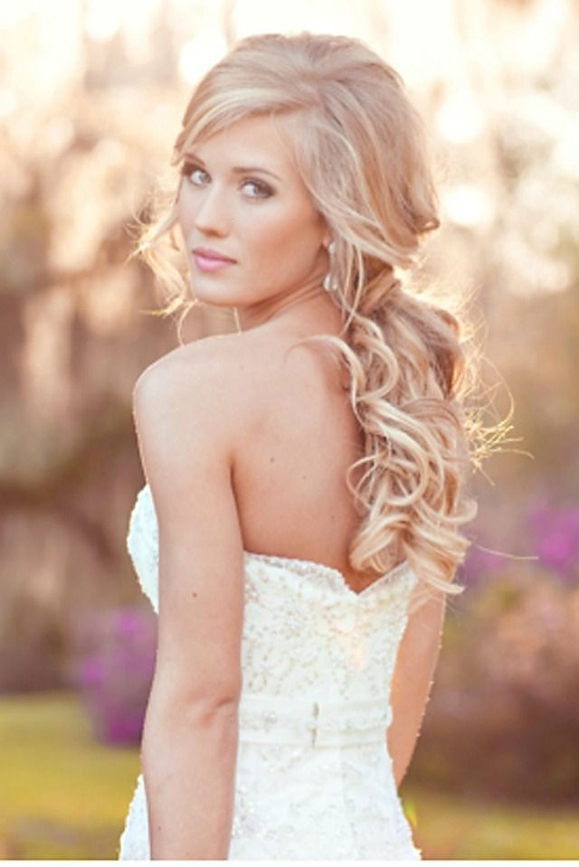 Half Up Half Down Wedding Hairstyle With Natural Curl