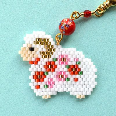 brickstitch peyote collier mouton diy
