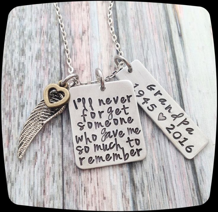 Memorial Gift, Remembrance Necklace, Loss of dad, Loss of Grandpa, Loss of Brother, Memorial Jewelry, Personalized Remembrance Jewelry  ♥▬▬▬▬▬▬▬▬▬♥ To Personalize ♥▬▬▬▬▬▬▬▬▬♥  ♥Add item to your cart.....in NOTE BOX in cart type  Name= Birth Year= At Rest Year=  ♥Choose The Free Necklace chain, Free Key Ring, or the UPGRADED Stainless Steel Chain  ♥ Sorry, we cannot stamp on the backs of the pieces. ♥▬▬▬▬▬▬▬▬▬♥ Chain Upgrade ♥▬▬▬▬▬▬▬▬▬♥  If you are sensitive to metals this stainless steel…
