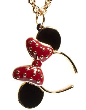 Minnie Mawi By Disney Couture Minnie Bow and Ears Necklace