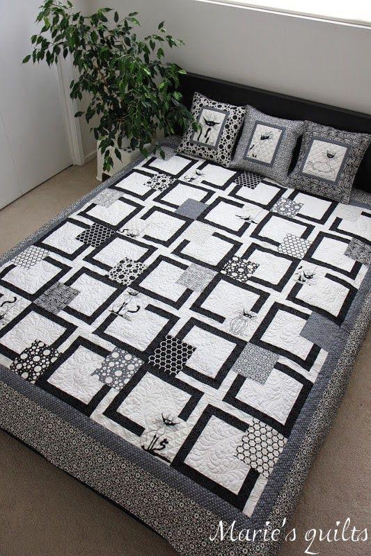 Marie's quilts: Черный кот / Black cat