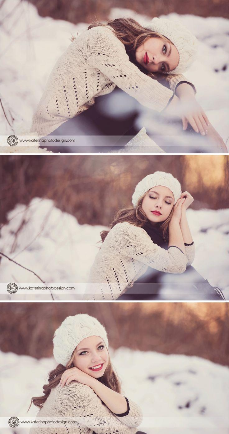 #senior #photography/ #Snow #Fairytale #photoshoot