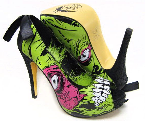 Zombie Stomper Platform Heels by Iron Fist. So sexy.