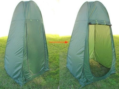 camping toilet pop up shelter