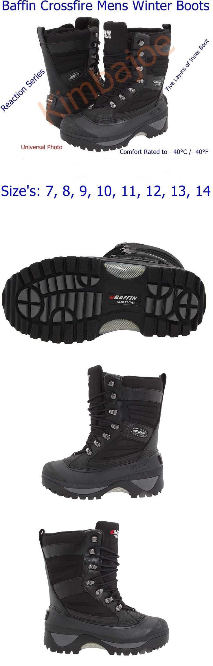 Other Winter Sport Clothing 16060: Baffin Crossfire Mens Winter Boots, Reaction Series, Sizes: 7 8 9 10 11 12 13 14 -> BUY IT NOW ONLY: $299.95 on eBay!