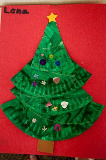 Christmas Tree Craft - this would be great at the party.