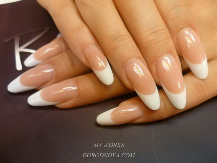 1000+ Ideas About Almond Nails French On Pinterest | Lcn Nails Almond Shape Nails And French ...