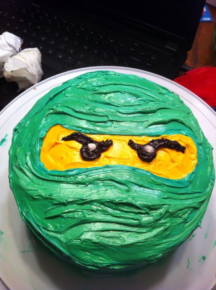 Ninjago cake...KM wanted ninjago bday so I made one like this... came out perfect :)