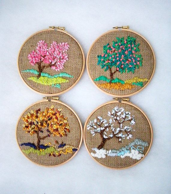 Hoop Art Textiles Tapestry Embroidered Hoop Home decor от nerina52