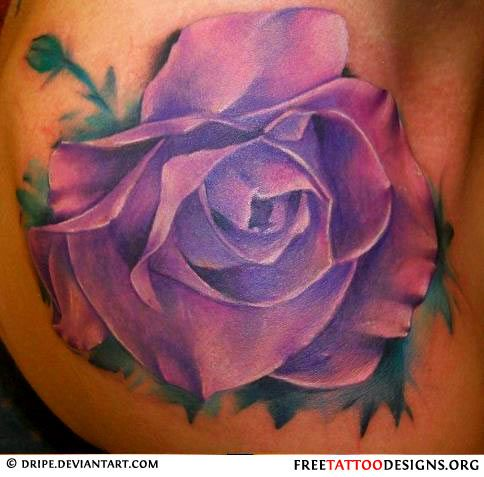 33 best Violet Purple Rose Tattoo images on Pinterest ...