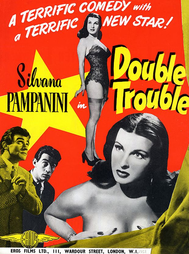 Film poster for L'inafferrabile 12 aka Double Trouble (Mario Mattoli, 1950)