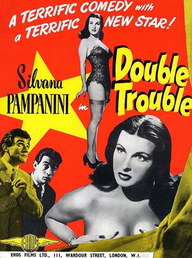 Film poster for L'inafferrabile 12 aka Double Trouble (Mario Mattoli, 1950)