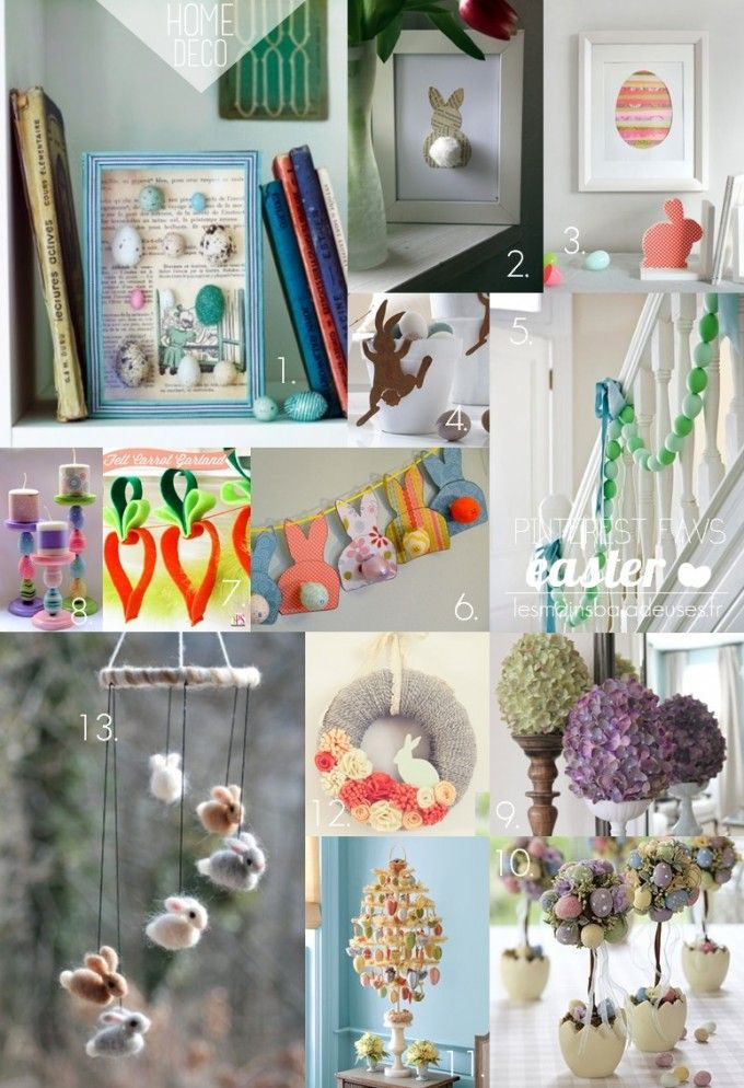 13 best easter DIY easy & cheap decoration ideas. / Top 13 des idées ...