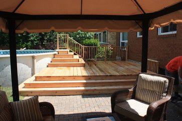 Spring 2012 Platform Deck to Aboveground Pool - contemporary - patio - ottawa - Harding Carpentry, Inc.