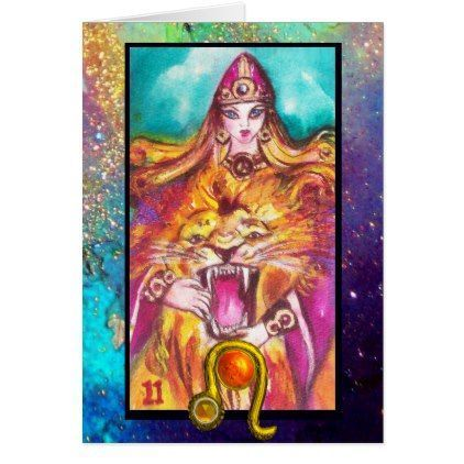 Leostrenght Tarot Astrology Zodiac Birthday Card Birthday Gifts