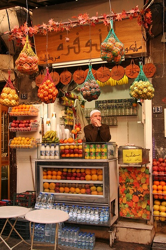 Syrian fruit stand