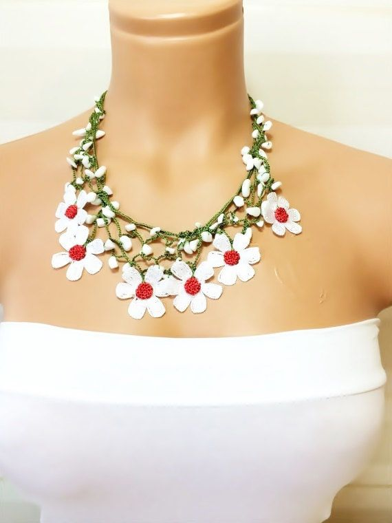 On SaleCrochet NecklaceWork Strand by NinnisGift on Etsy, $17.00
