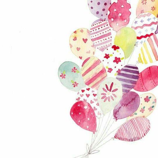 Стильная открытка с днем рождения девушке акварель, картинки анимации картинка