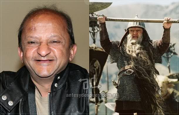 Kiran Shah como Ginarrbrik.  En Las crónicas de Narnia – El león, la bruja y el ropero (2005).  Maquillaje: Howard Berger.
