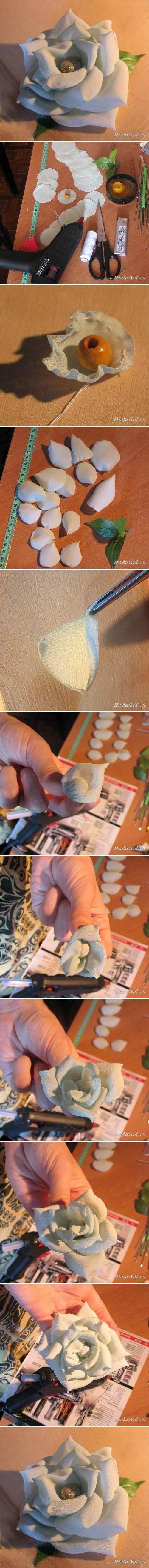 DIY Modular Nylon Rose DIY Projects   UsefulDIY.com Follow Us on Facebook ==> http://www.facebook.com/UsefulDiy