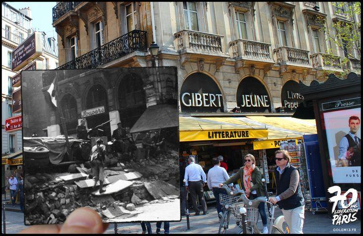 Place Saint-Michel, rue de la Huchette - Golem13