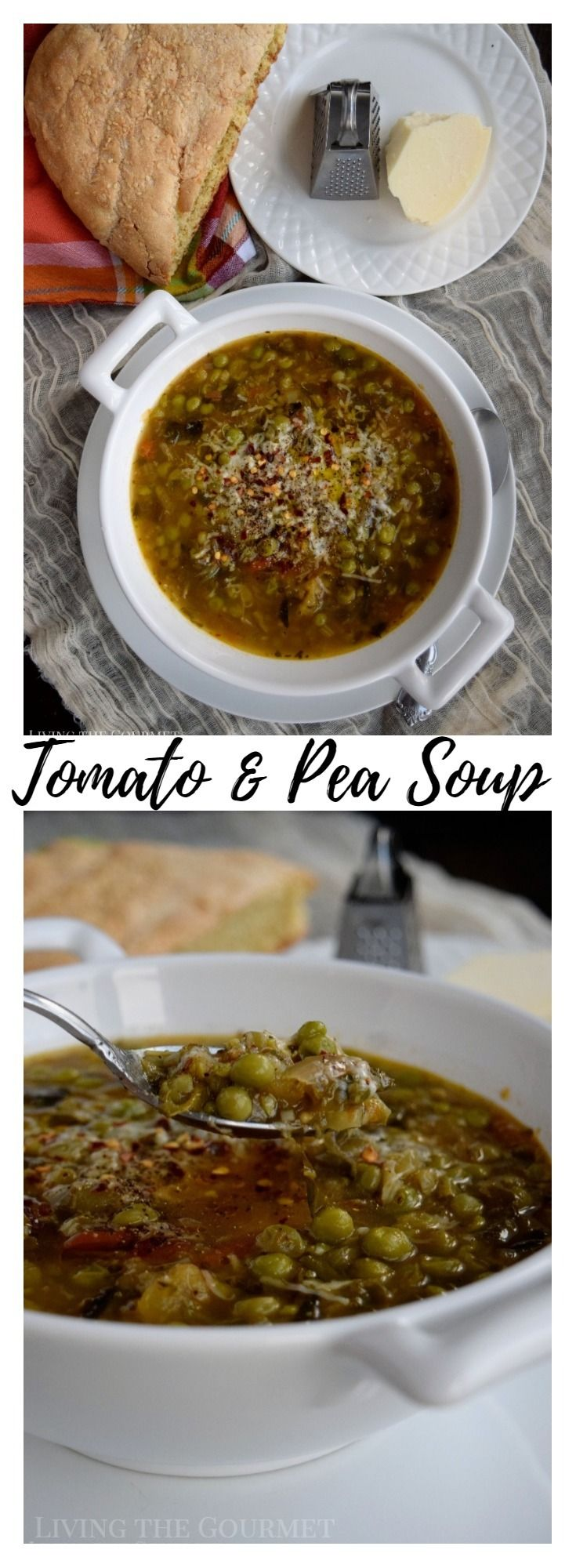 Warm up these bitter winter days with a bowl of this comforting Tomato and Pea soup! Like many of you, I started this year off with a handful of well-intentioned 'Resolutions' aimed at self-perfection, both personal and professional. Now, I'm about to embark upon a self-deprecating tangent on how I've already broken my waist-line orientated...