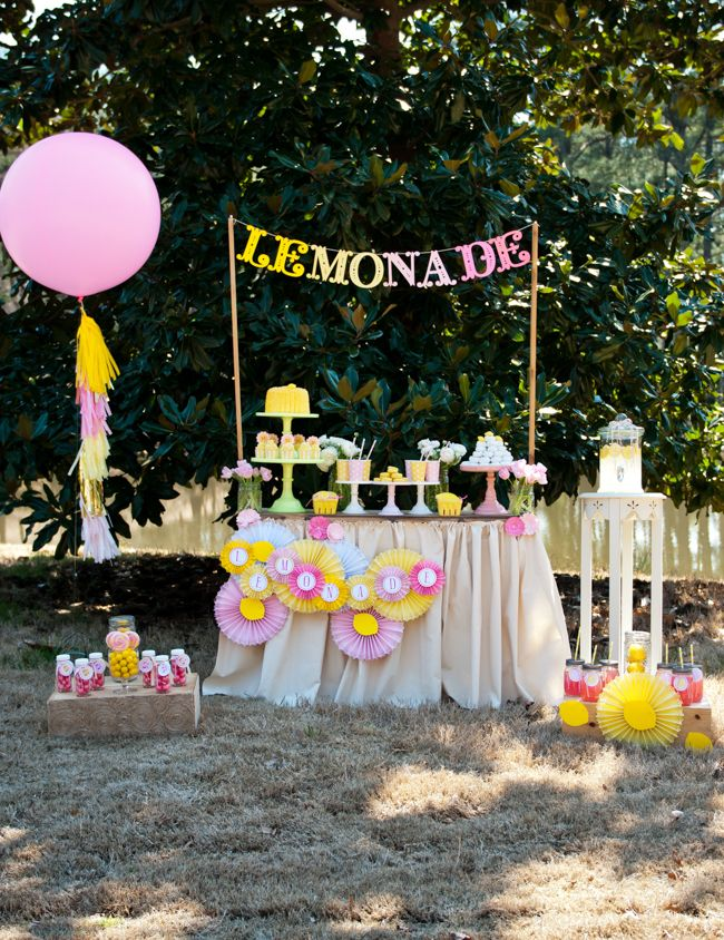 Pink lemonade stand party the stand summer and bar for Cool lemonade stand ideas