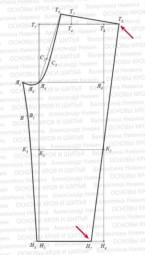 Men's Pajama pants general pattern | Back | Full pattern instructions included