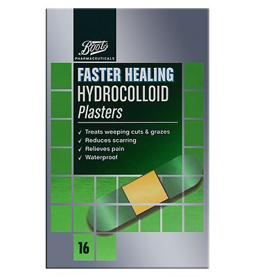 #Boots Pharmaceuticals Boots Faster Healing Hydrocolloid Plaster (Pack #12 Advantage card points. FREE Delivery on orders over 45 GBP. (Barcode EAN=5045094887828)