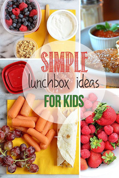 4 Simple Lunchbox Ideas for Kids. Great for going back to school.