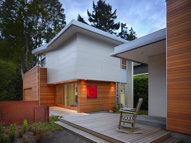 Ceraclad Siding With Western Red Cedar Accents