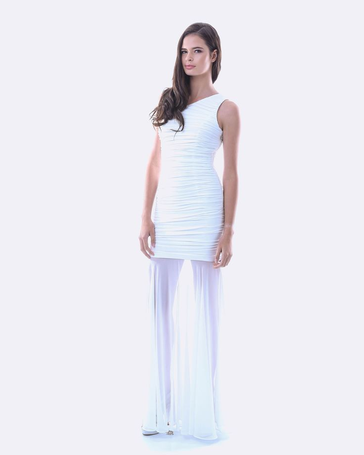 SKIVA One Shoulder Chiffon Overlay Dress. This long formal gown uses a soft, stretch fabric that fits snugly to the body giving it shape and contour. A one shoulder design the dress also features thick lining and a striking all over ruching effect giving it a cascading look. With a flowing, full length chiffon overlay and front split this dress is bound to impress. A beautiful gown which adjusts to your shape. This will be a stand out at any formal, ball or wedding. Available in Red and…