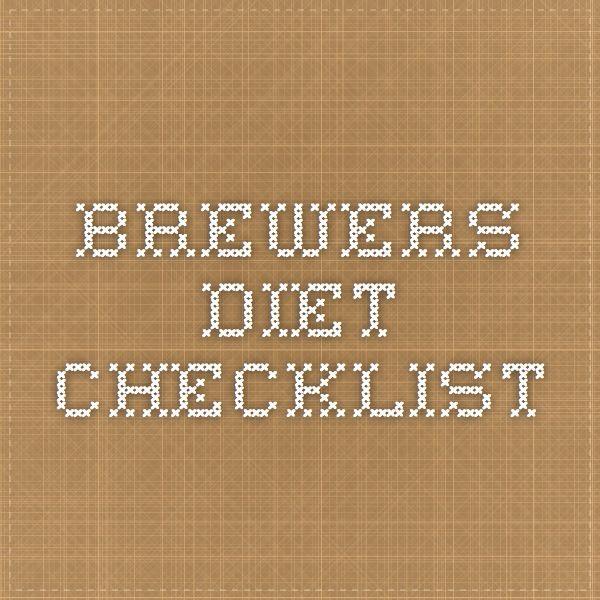 Brewers Diet Checklist