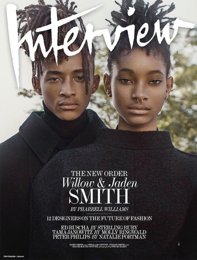 Уиллоу и Джейден Смит на обложке Interview Magazine (Интернет-журнал ETODAY)