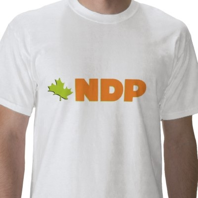 New Democratic Party T Shirt from http://www.zazzle.com/jack+layton+tshirts