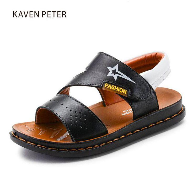 Chaussures de plage en cuir pour enfants 2017 new boy sandals 8c2KlWP1s