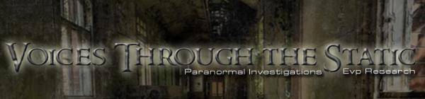 Voices Through the Static EVP Research was formed in 2004.   Since that time, we've conducted paranormal investigations at   many purported haunted sites in the Wisconsin area and   beyond. We use forensic audio analysis programs to help us   ascertain that which is logical and that which we feel to be   paranormal.