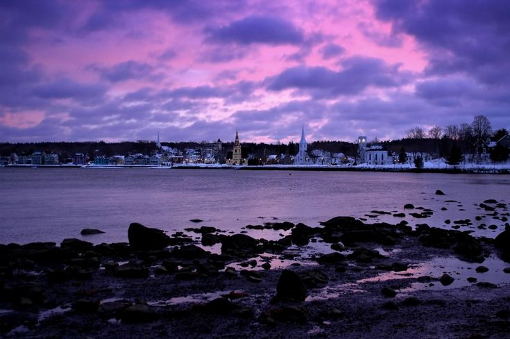 The Town of Lunenburg, Nova Scotia at Dawn