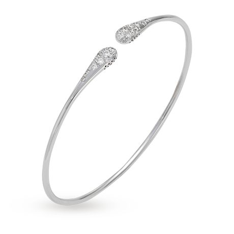 For Her - Ponte Vecchio Iside 18ct White Gold Diamond Bangle - CB446BRW