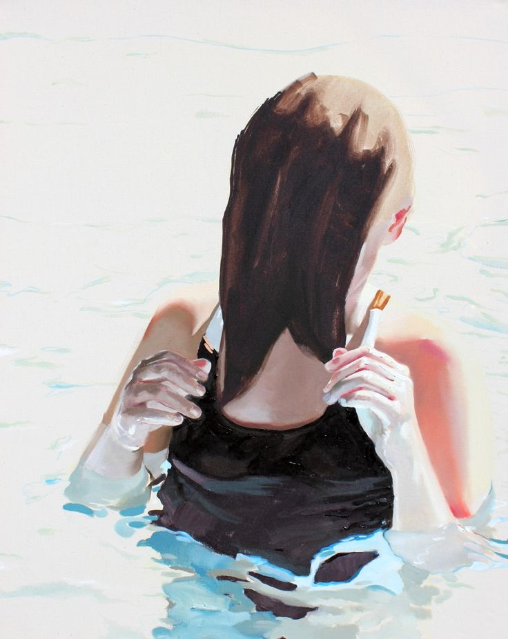 """Tanya Poole """"Girl in Water"""" from The Becoming Child series. 2013"""